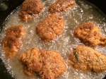 masala chicken frying